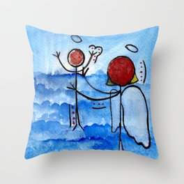 #cagsticks ''The birth of Jesus'' Throw Pillow