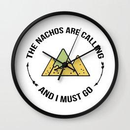 NACHOS CALLING Wall Clock
