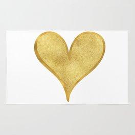 Gold Glam Glitzy Heart Rug