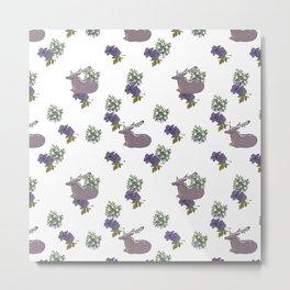 Deer in a blueberry sea Metal Print