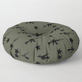 M4 Assault Rifle Pattern Floor Pillow