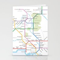 middle earth Stationery Cards featuring Middle Earth Transit Map by mehmetikberker