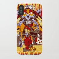 mario kart iPhone & iPod Cases featuring Mad Mario: Fury Kart by RynoArts