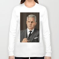 mad men Long Sleeve T-shirts featuring Roger Sterling (Mad Men) by San Fernandez