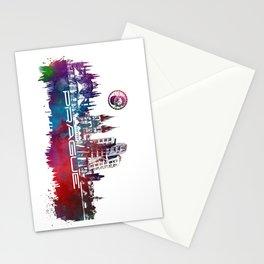 Prague skyline city Stationery Cards