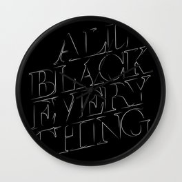All Black Everything Wall Clock