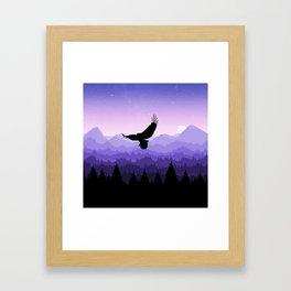 Eagle Skyline Framed Art Print