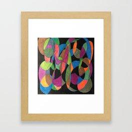 Intertwining Circles Framed Art Print