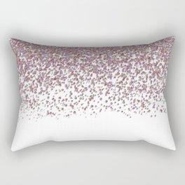 Sparkling rose quartz glitter confetti - Luxury design Rectangular Pillow