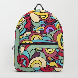 Colorful Hippie Swirl Pattern 1 Backpack