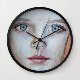Artwork watercolor portrait Mckenna Grace Wall Clock