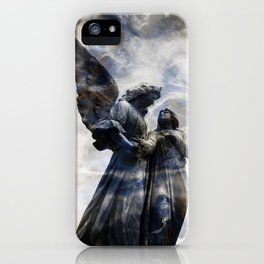 Cemetery Angles with Marble Sky iPhone Case