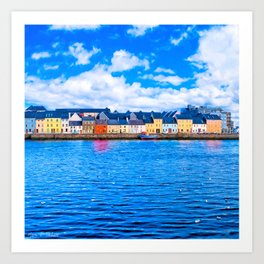 View Of The Long Walk From The Claddagh - Galway Ireland Art Print