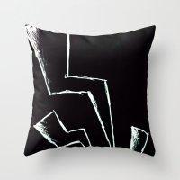 flash Throw Pillows featuring Flash! by Iotara