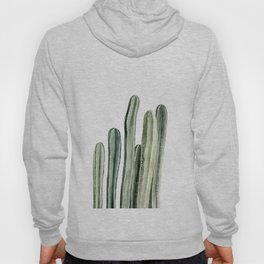 Tall Cacti Watercolor Painting Hoody