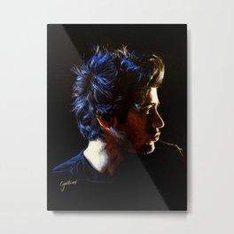 Blue Zayn Metal Print