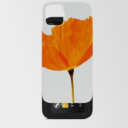 One And Only - Orange Poppy White Background #decor #society6 #buyart iPhone Card Case