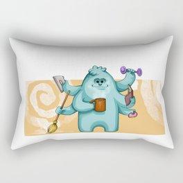 Multitasking Monster Rectangular Pillow