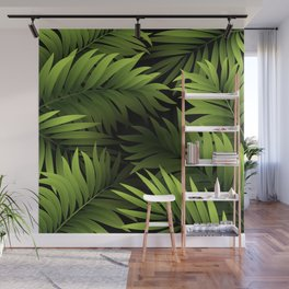 Tropical Frond Pattern Wall Mural