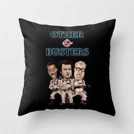 Otherbusters with Glow Title Throw Pillow