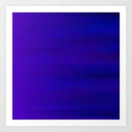 Ultra Violet to Indigo Blue Ombre Art Print
