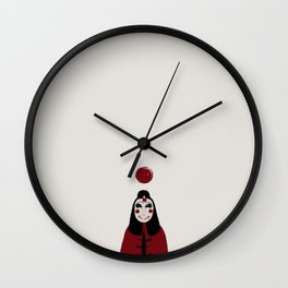 Masked entertainer Wall Clock