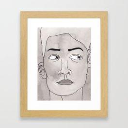 Hmm hmm... Framed Art Print