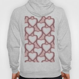 Hearts with lace trim. Hoody
