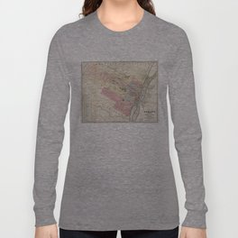 Vintage Map of Albany NY (1874)  Long Sleeve T-shirt