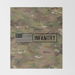 Infantry (Camo) Throw Blanket
