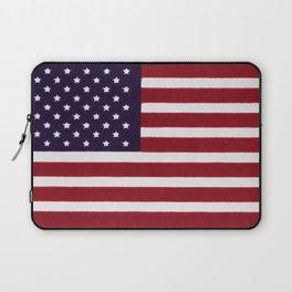 "Stars & Stripes flag, painterly ""old glory"" Laptop Sleeve"