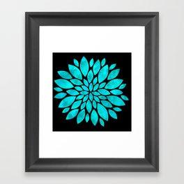 Zen Cloudy Flower Framed Art Print