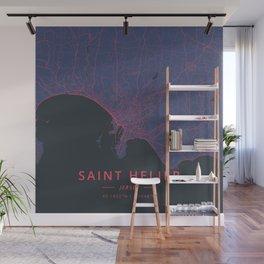 Saint Helier, Jersey - Neon Wall Mural