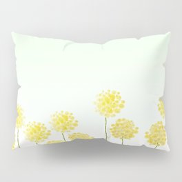 two abstract dandelions watercolor Pillow Sham