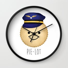 Pie-lot Wall Clock