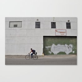 Bywater Bicyclist - New Orleans, Louisiana Canvas Print