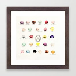 laduree macaron menu Framed Art Print