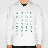 font Hoodies featuring Fishes Font by Matteo Brogi