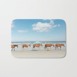 Summer Coast Horse Stride Bath Mat