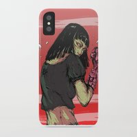 cyberpunk iPhone & iPod Cases featuring Ready to rumble - Cyberpunk girl by Printableink