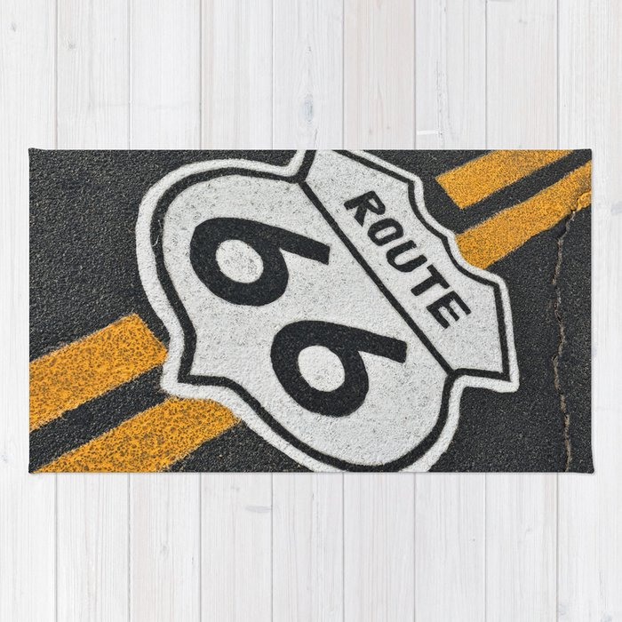 The Mythical Route 66 Sign Rug