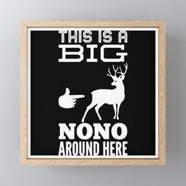 Funny Deer Hunting Gift Idea Design Motif Framed Mini Art Print