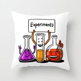 Science Chemistry School Joke Experiments Throw Pillow