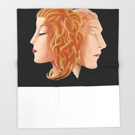 Medusa and Perseus Throw Blanket