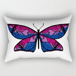 Fly With Pride: Bisexual Flag Butterfly Rectangular Pillow