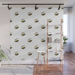 Lashes with gold glitter Wall Mural