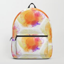 hexagon aquarelle pattern Backpack