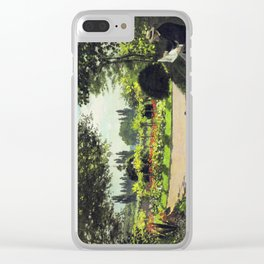 Reading Garden Clear iPhone Case