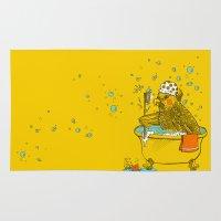 bath Area & Throw Rugs featuring Bird Bath! by HFDee