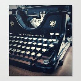 Ye Olde Italian Typewriter. Canvas Print